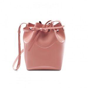 Mansur Gavriel mini mini blush patent bucket bag